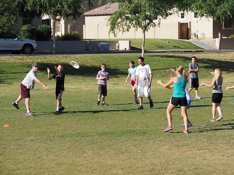 santan charter school exercise frisbee
