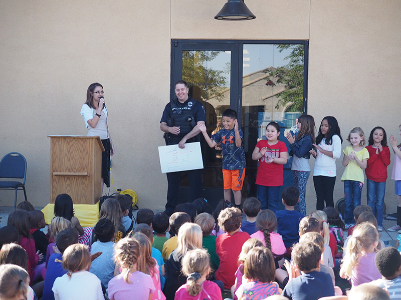 santan charter school our history police officer with school